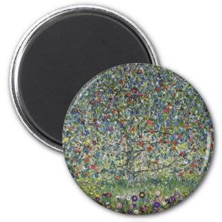 Gustav Klimt - Apple Tree Painting Magnet
