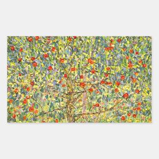 Gustav Klimt Apple Tree Rectangular Sticker