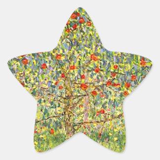 Gustav Klimt Apple Tree Star Sticker