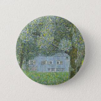 Gustav Klimt - Bauerhaus in Buchberg Painting 6 Cm Round Badge