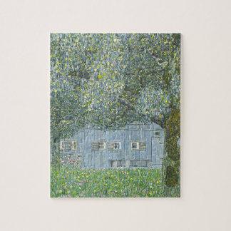 Gustav Klimt - Bauerhaus in Buchberg Painting Jigsaw Puzzle