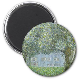Gustav Klimt - Bauerhaus in Buchberg Painting Magnet