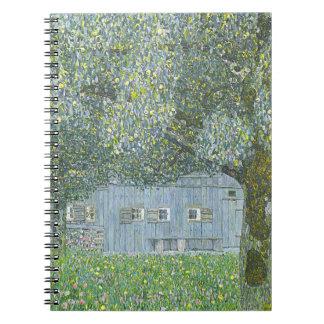 Gustav Klimt - Bauerhaus in Buchberg Painting Notebook