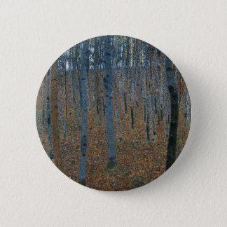 Gustav Klimt - Beech Grove. Trees Nature Wildlife 6 Cm Round Badge