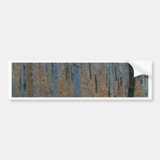 Gustav Klimt - Beech Grove. Trees Nature Wildlife Bumper Sticker
