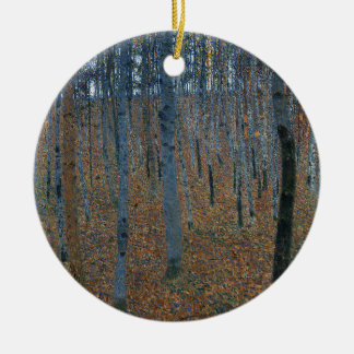 Gustav Klimt - Beech Grove. Trees Nature Wildlife Ceramic Ornament
