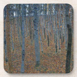 Gustav Klimt - Beech Grove. Trees Nature Wildlife Coaster