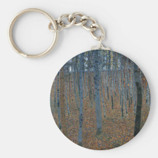 Gustav Klimt - Beech Grove. Trees Nature Wildlife Key Ring