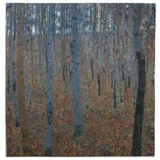 Gustav Klimt - Beech Grove. Trees Nature Wildlife Napkin