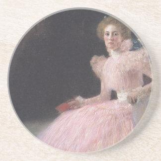 Gustav Klimt - Bildnis Sonja Knips Portrait Coaster