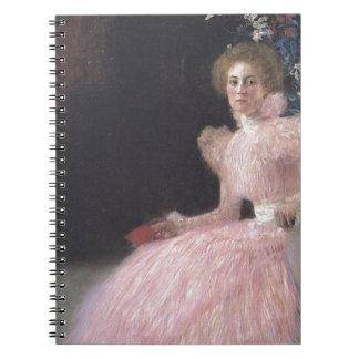Gustav Klimt - Bildnis Sonja Knips Portrait Notebook