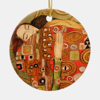Gustav Klimt Ceramic Ornament