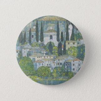 Gustav Klimt - Church in Cassone Art work 6 Cm Round Badge