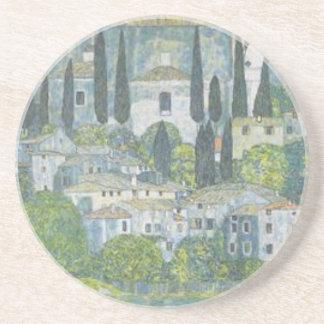 Gustav Klimt - Church in Cassone Art work Coaster
