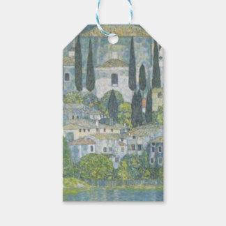 Gustav Klimt - Church in Cassone Art work Gift Tags
