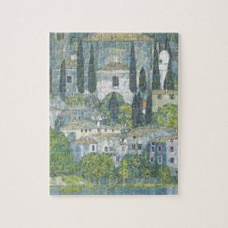 Gustav Klimt - Church in Cassone Art work Jigsaw Puzzle
