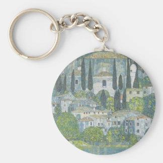 Gustav Klimt - Church in Cassone Art work Key Ring