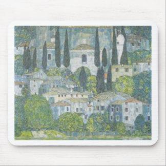 Gustav Klimt - Church in Cassone Art work Mouse Pad