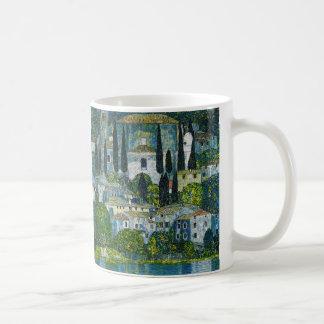 "Gustav Klimt, ""Church in Cassone"" Coffee Mug"
