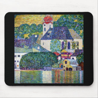 "Gustav Klimt, ""Church in Unterach at the Atter"" Mouse Pad"