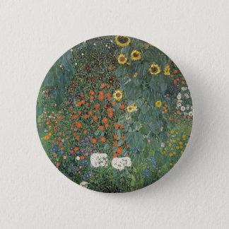 Gustav Klimt - Country Garden Sunflowers Flowers 6 Cm Round Badge