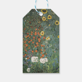 Gustav Klimt - Country Garden Sunflowers Flowers Gift Tags