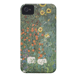 Gustav Klimt - Country Garden Sunflowers Flowers iPhone 4 Case-Mate Cases