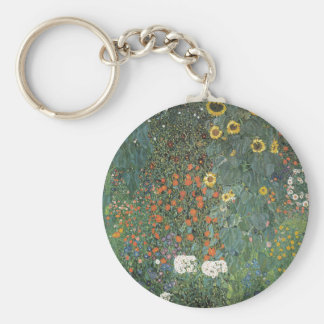 Gustav Klimt - Country Garden Sunflowers Flowers Key Ring