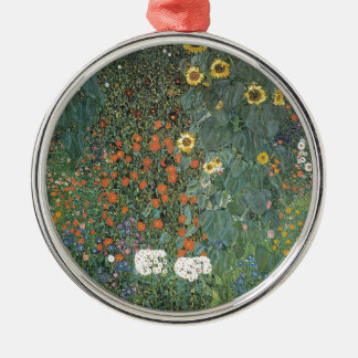 Gustav Klimt - Country Garden Sunflowers Flowers Metal Ornament