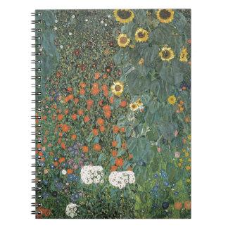 Gustav Klimt - Country Garden Sunflowers Flowers Notebook