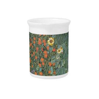 Gustav Klimt - Country Garden Sunflowers Flowers Pitcher