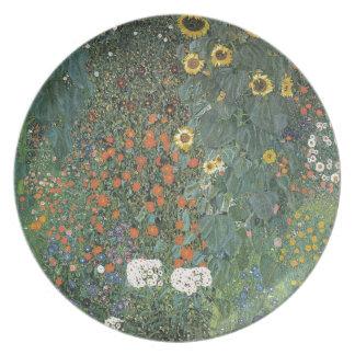 Gustav Klimt - Country Garden Sunflowers Flowers Plate