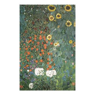 Gustav Klimt - Country Garden Sunflowers Flowers Stationery