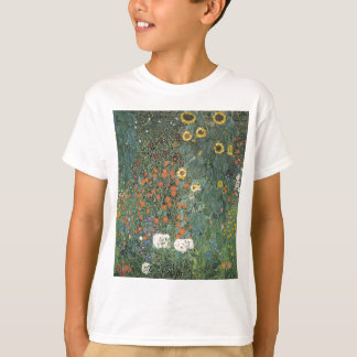 Gustav Klimt - Country Garden Sunflowers Flowers T-Shirt