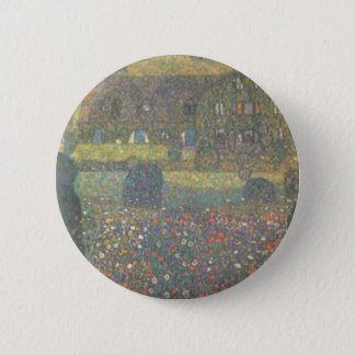 Gustav Klimt - Country House by the Attersee Art 6 Cm Round Badge
