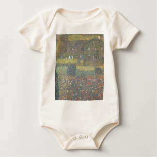 Gustav Klimt - Country House by the Attersee Art Baby Bodysuit