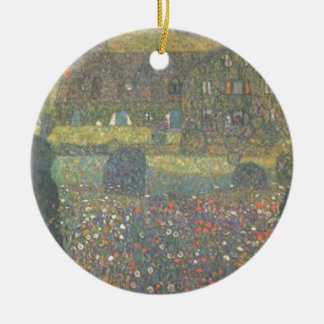 Gustav Klimt - Country House by the Attersee Art Ceramic Ornament