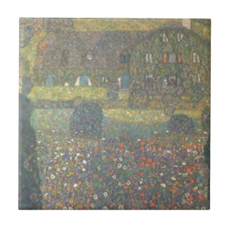 Gustav Klimt - Country House by the Attersee Art Ceramic Tile