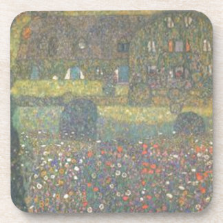 Gustav Klimt - Country House by the Attersee Art Coaster