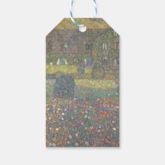 Gustav Klimt - Country House by the Attersee Art Gift Tags