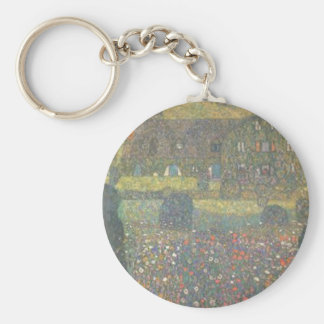 Gustav Klimt - Country House by the Attersee Art Key Ring