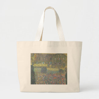 Gustav Klimt - Country House by the Attersee Art Large Tote Bag