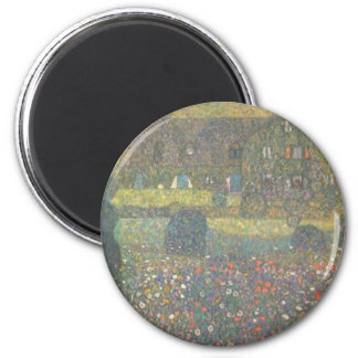 Gustav Klimt - Country House by the Attersee Art Magnet