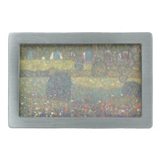 Gustav Klimt - Country House by the Attersee Art Rectangular Belt Buckle