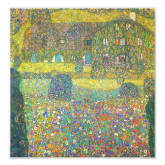 Gustav Klimt Country House by the Attersee Photo Print