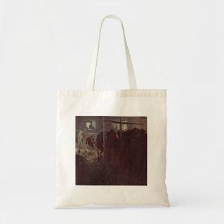 Gustav Klimt- Cows in the barn Tote Bag