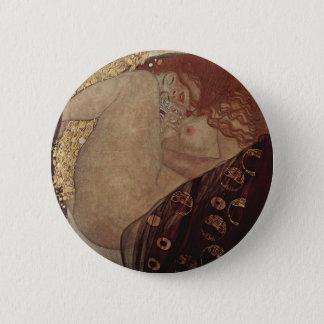 Gustav Klimt  - Danae - Beautiful Artwork 6 Cm Round Badge