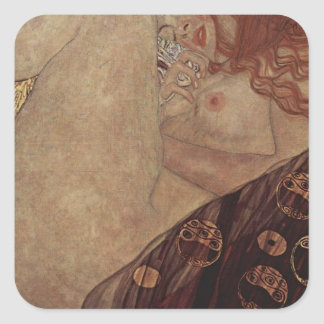 Gustav Klimt  - Danae - Beautiful Artwork Square Sticker