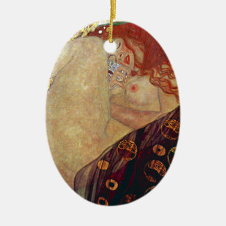 "Gustav Klimt, ""Danae"" Ceramic Ornament"