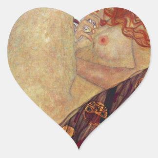 "Gustav Klimt, ""Danae"" Heart Sticker"